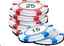 Spelmarker till pokerspelet på internet